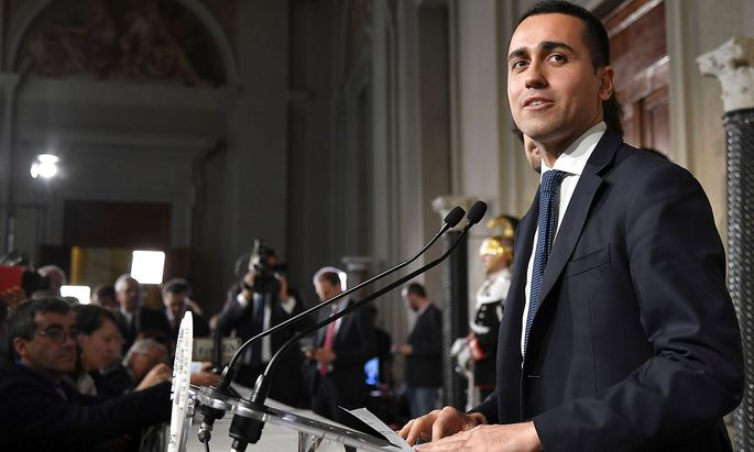 Luigi Di Maio glaubt an das Bündnis seiner Fünf-Sterne-Bewegung mit der Rechtspartei Lega.