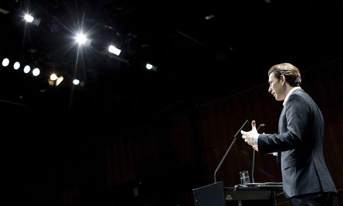 Sebastian Kurz im Rahmen der Konferenz 'Subsidiarität als Bauprinzip der Europäischen Union' in Bregenz.