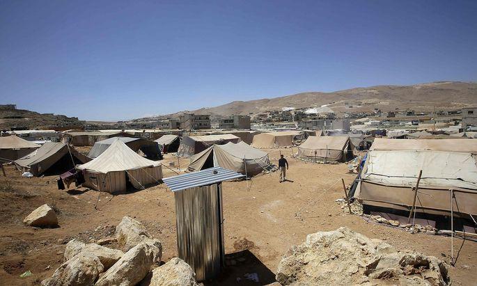 Ein Lager für syrische Flüchtlinge im Libanon