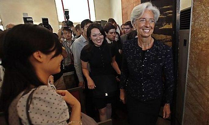 Die französische IWF-Kandidatin Christine Lagarde auf Werbetour in China