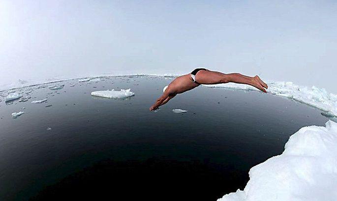 Warum nicht: Schwimmen am Nordpol