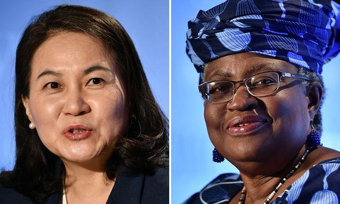 Die Kandidatinnen: Yoo Myung-hee und Ngozi Okonjo-Iweala.