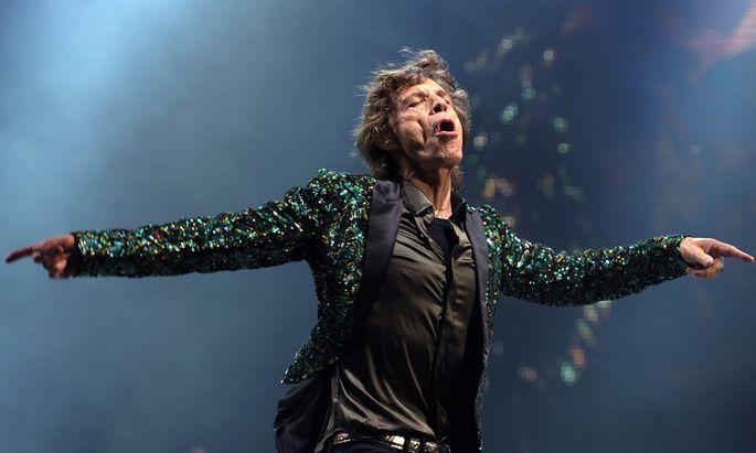 Leidenschaft! Liszt schüttelte seine Mähne wie ein Wilder, und Mick Jagger – hier live in Glastonbury, Juni 2013 – hat auch genug drauf.