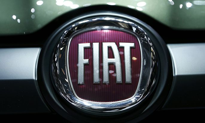 Logo of Fiat is pictured on the Fiat Panda at the 86th International Motor Show in Geneva