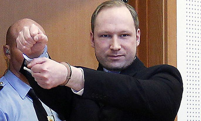 FILE - This is a Monday, Feb. 6, 2012 file photo of Anders Behring Breivik, a right-wing extremist