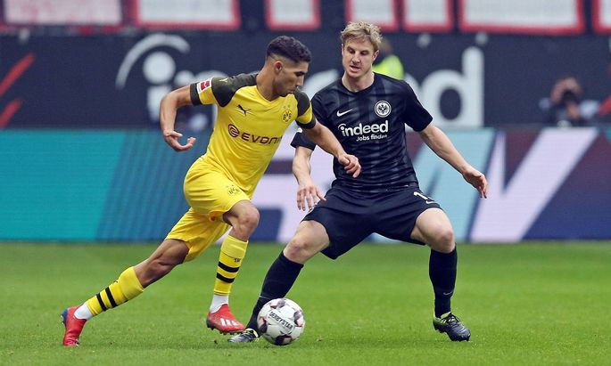 02 02 2019 xovx Fussball 1 Bundesliga Eintracht Frankfurt Borussia Dortmund emspor v l Achraf