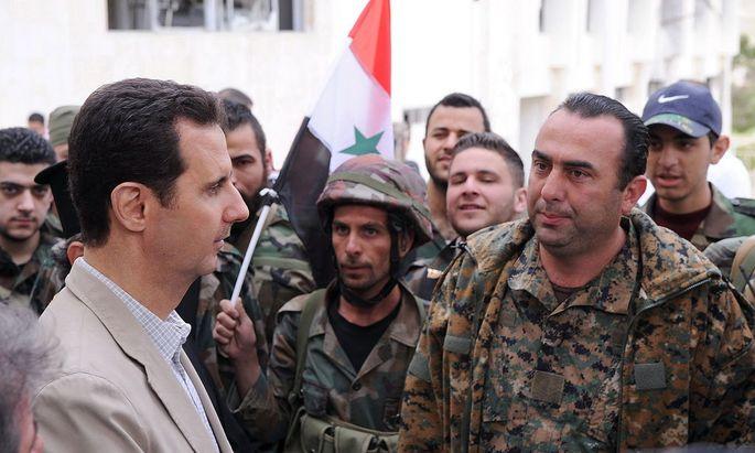 SYRIA ASSAD VISIT MAALOULA