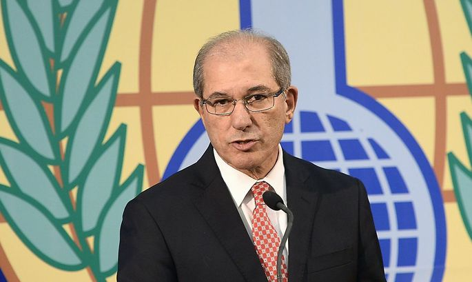 OPCW Director General Ahmet Uzumcu speaks during a news conference in The Hague