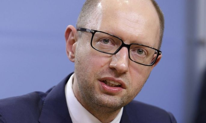 Arsenij Jazenjuk Vorsitzender der Partei Vaterland DEU Berlin 17 02 2014