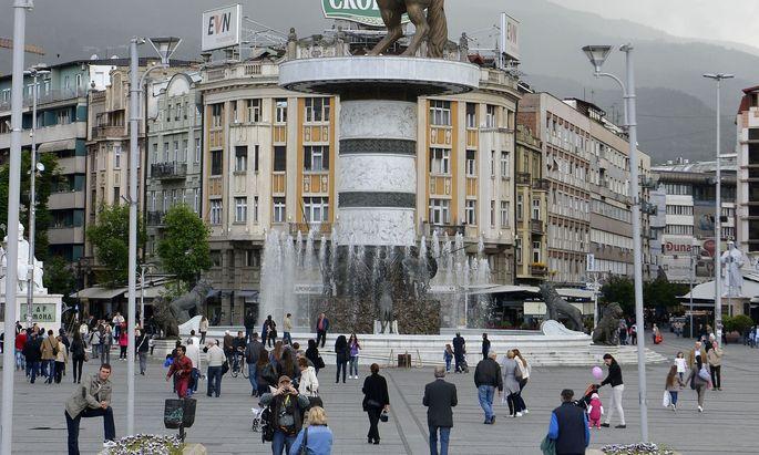 Ob Skopje eines Tages Hauptstadt eines EU-Mitgliedslandes wird, ist fraglich.