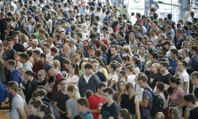 Symbolfoto: Ansturm beim Medizin-Aufnahmetest in Graz