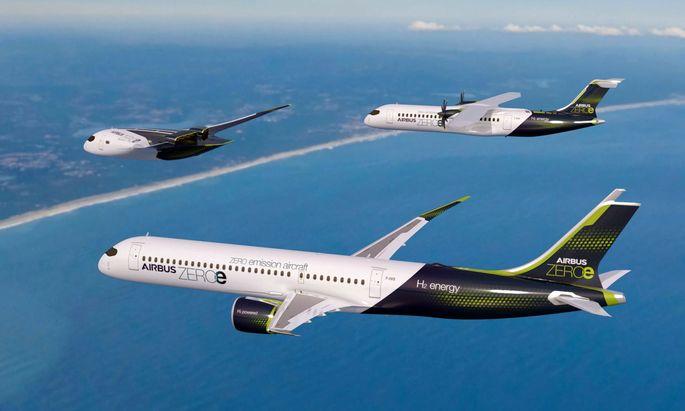 Airbus hat drei Konzepte vorgestellt.