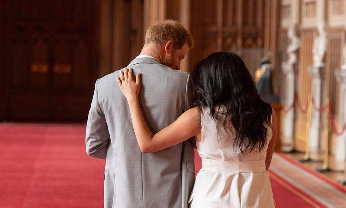 Prinz Harry mit seiner Frau Meghan