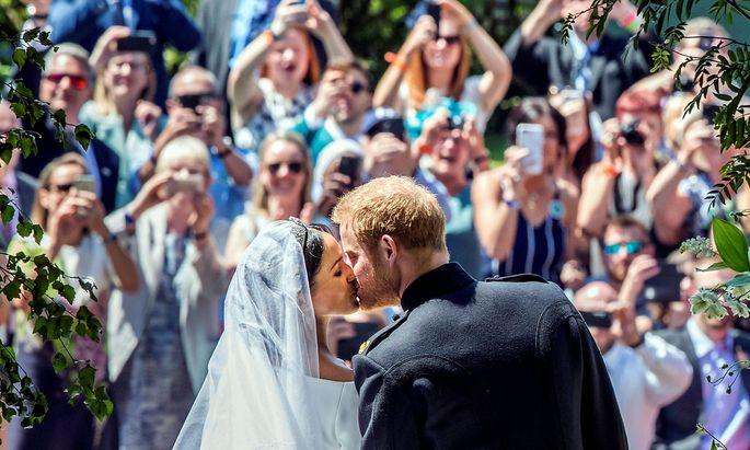Die frisch gekürten Eheleute Meghan und Harry von Sussex.
