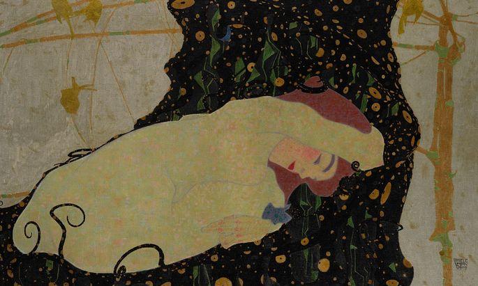 Egon Schiele malte ''Danae'' 1909