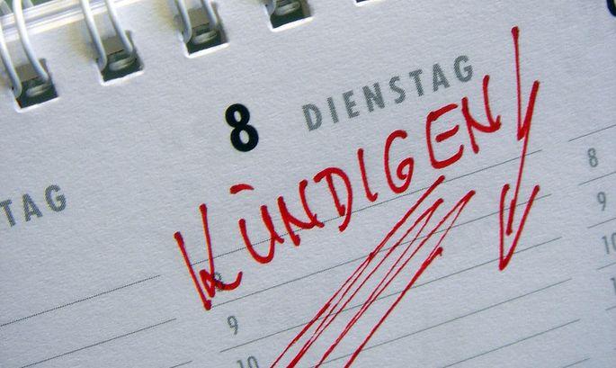 Kuendigen - Eintrag in einem Kalender