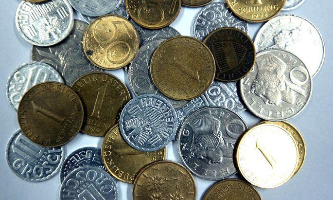 Die Hälfte der Schillingmünzen ist verloren
