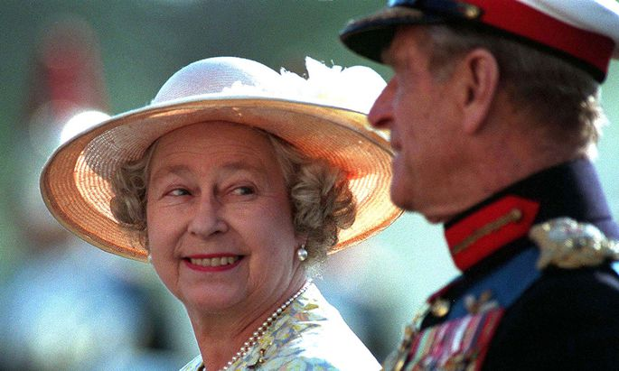 Queen Elizabeth und Prinz Philip 1996.