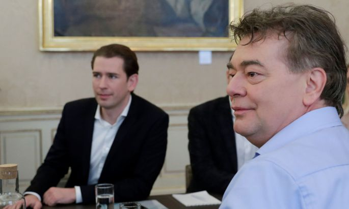 ÖVP-Chef Sebastian Kurz und Grünen-Chef Werner Kogler.