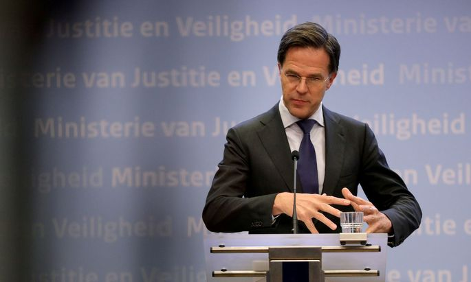 Mark Rutte, Premier der Niederlande, lehnt Vergemeinschaftung der Schulden ab.
