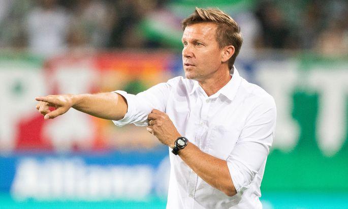 Salzburg-Trainer Jesse Marsch freute sich über ein gelungenes Liga-Debüt.