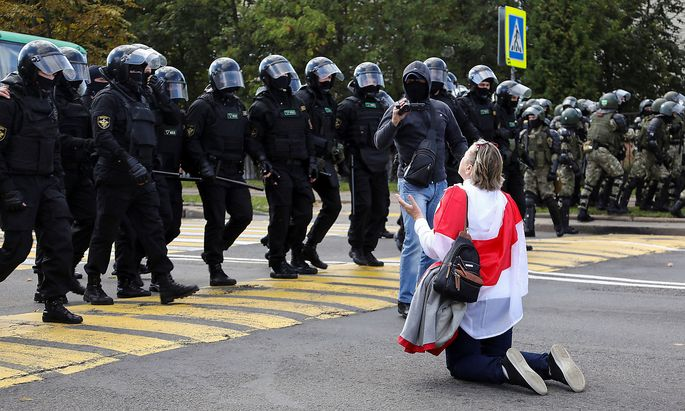 Opposition demonstration to protest against presidential election results in Minsk