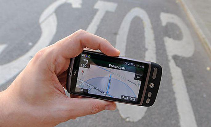 Handy, Navi, Navigationssystem, Android, Google-maps, VerkehrFoto: Clemens Fabry
