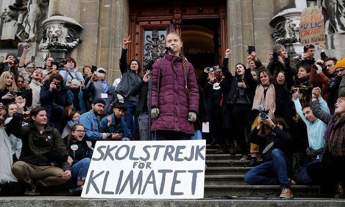 """Greta Thunberg bei einem """"Fridays for Future""""-Event in Lausanne in der Schweiz Mitte Jänner."""