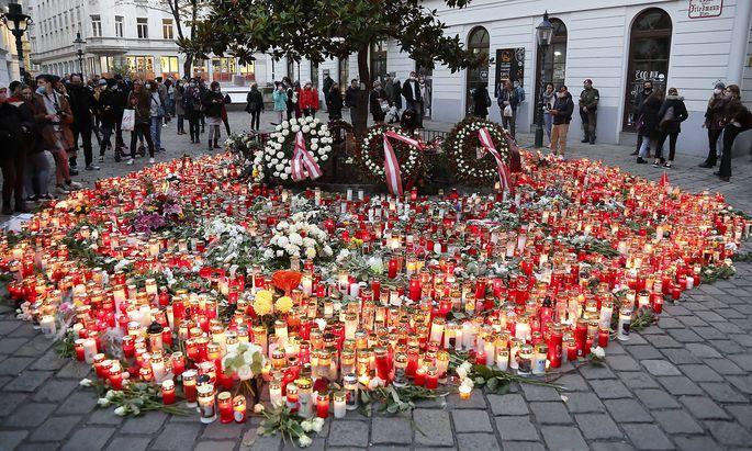 Gedenken an die Opfer des Terrors in der Wiener Innenstadt.