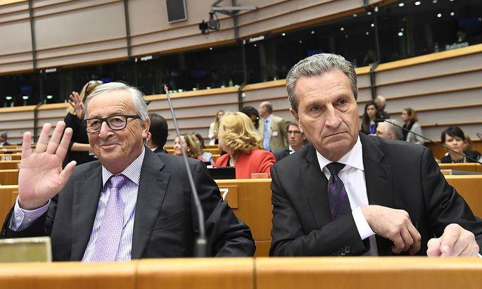 Wie sich Juncker und Oettinger das EU-Budget nach dem Brexit vorstellen, präsentierte die EU-Kommission am Mittwoch.