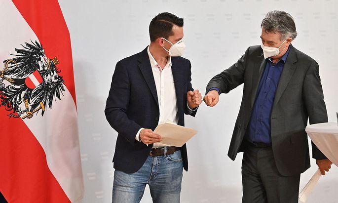 Am Dienstag stellte Werner Kogler den neuen Gesundheitsminister Wolfgang Mückstein vor, am Freitag wird er angelobt