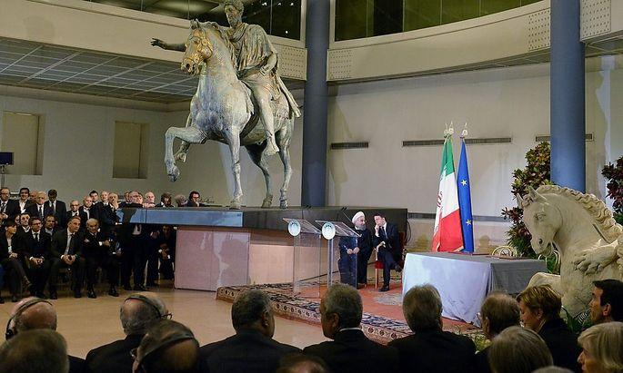 Die Kapitolinischen Museen zeigten Hassan Rohani und Matteo Renzi nicht alle ihre Schätze.