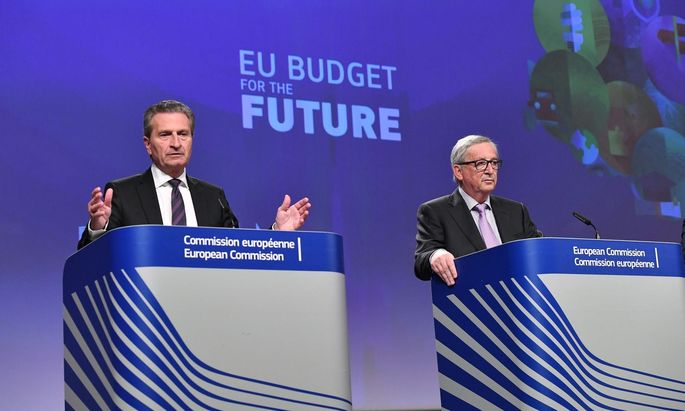 Oettinger und Juncker präsentierten das EU-Budget der Zukunft.