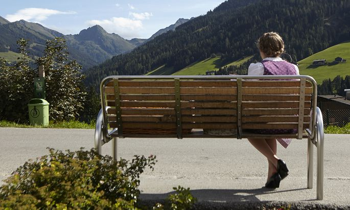 Ein Mistkübel trübt die Alpbacher Idylle