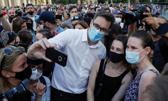 Der Budapester Bürgermeister Gergely Karácsony unterstützt die Proteste gegen den Bau der chinesischen Universität.