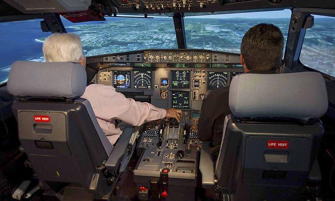 Archivbild: Cockpit eines A320-Airbus