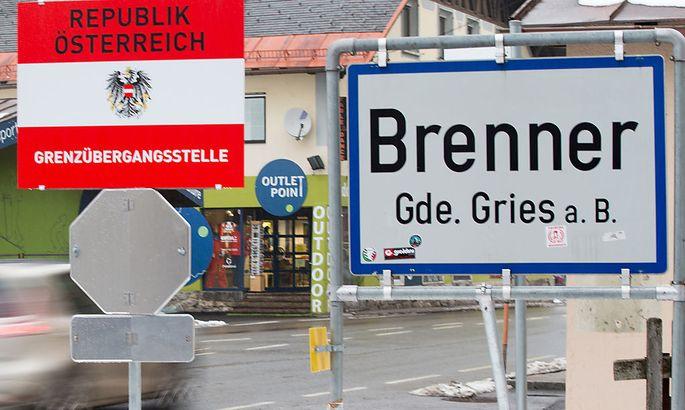 Grenzübergang am Brenner