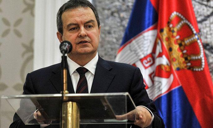Der serbische Außenminister Ivica Dacic ist für eine Aufteilun des Kosovo.