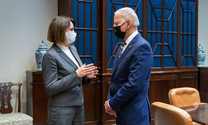 Swetlana Tichanowskaja sprach in Washington D.C. mit US-Präsident Joe Biden über die Situation in Belarus.