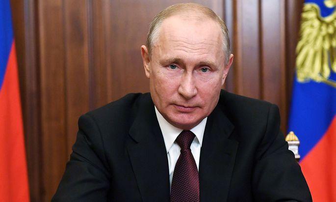 Wladimir Putin zog in seiner TV-Ansprache ein positives Fazit der russischen Bekämpfung der Corona-Epidemie.