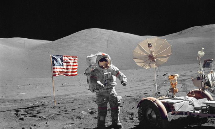 Landeplatz am Mond soll das Taurus-Littrow-Tal sein. Hier landete auch die Apollo 17-Mission 1972.