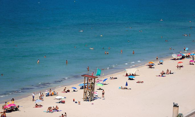 Der Strand in Palma de Mallorca.