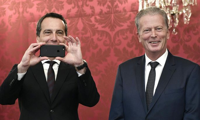 Bundeskanzler Kern und Vizekanzler Mitterlehner.