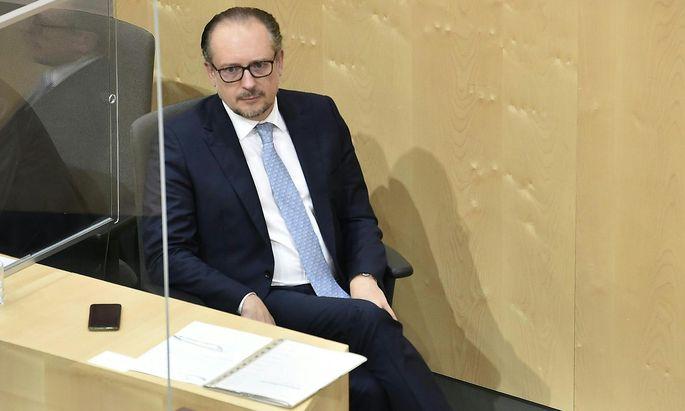 Bundeskanzler Alexander Schallenberg am Dienstag im Nationalrat.