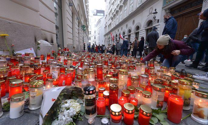 Gedenken in der Wiener Innenstadt.