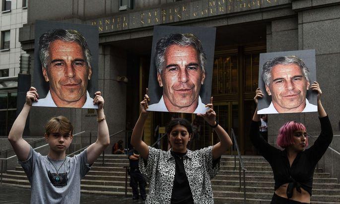 Protest im Epstein-Skandal