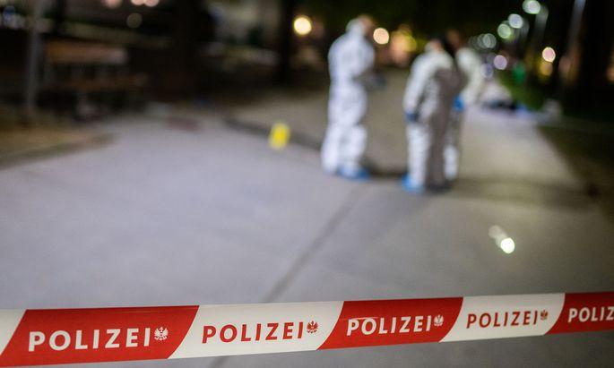 Der mutmaßliche Täter befand sich samt Waffe noch vor Ort, als die Polizei eintraf.
