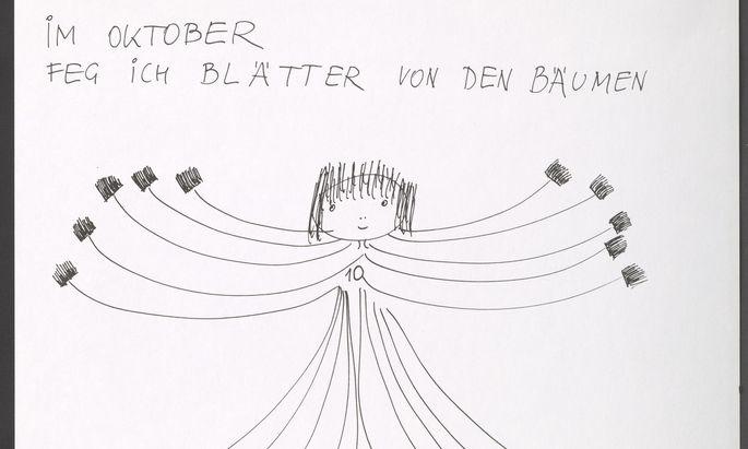 Zauberhafte Literatur-Bild-Spiele von Friederike Mayröcker, ausgesucht von Hans Ulrich Obrist.