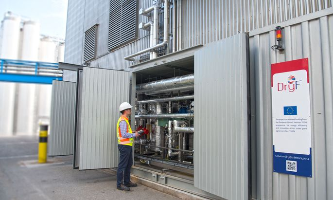 Die Wärmepumpen wurden in drei Anwendungsfällen in industrieller Umgebung getestet.
