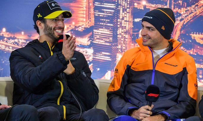 Daniel Ricciardo und Carlos Sainz.